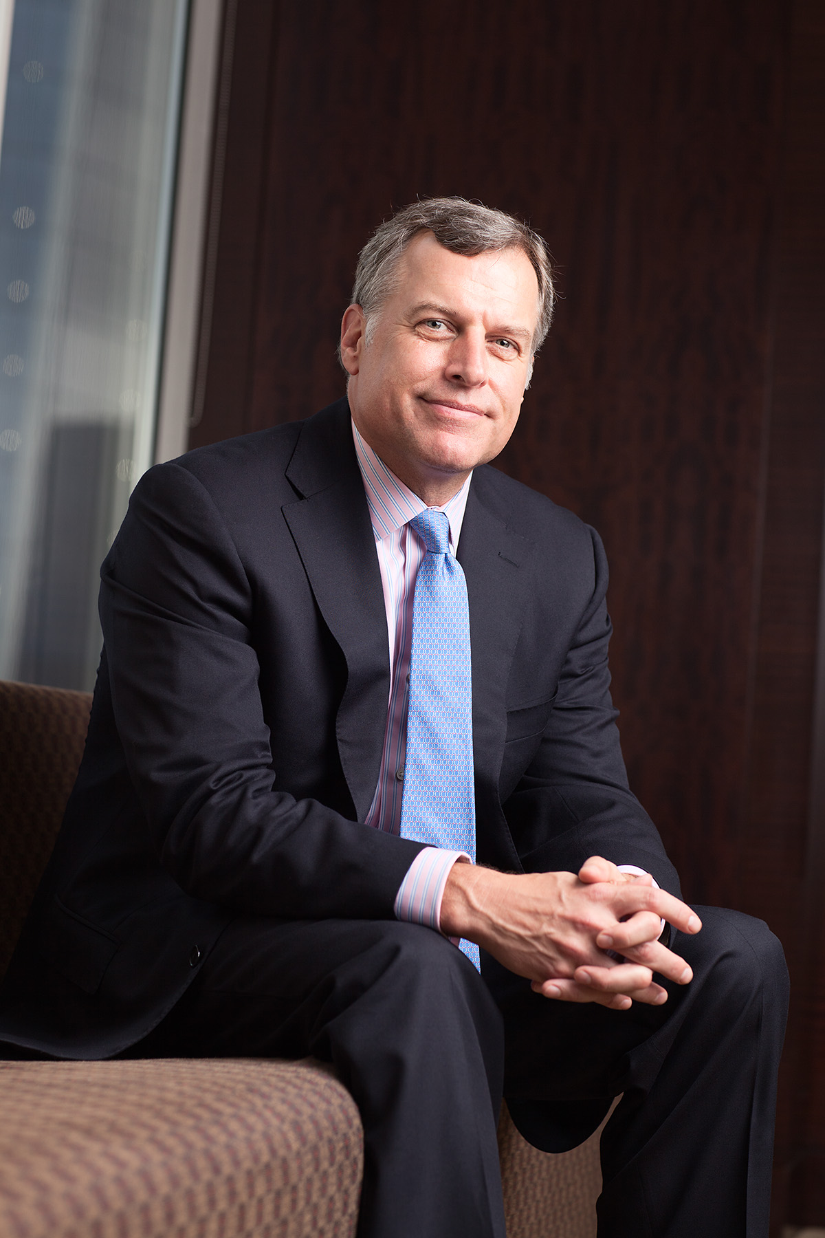 John Thiel, head of Merrill Lynch Wealth Management, photographed for On Wall Street magazine