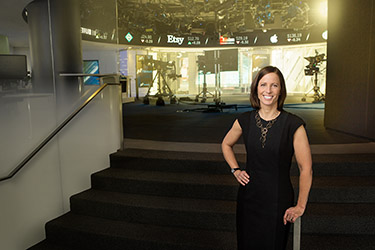 Adena Friedman, CEO, Nasdaq photographed for Nasdaq annual report in NYC