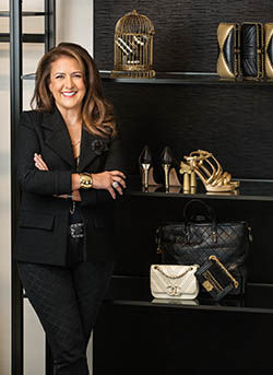 Joyce Green, EVP of Fashion, Chanel, photographed at the Chanel 57th Street Boutique in NYC.