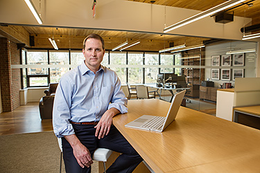 Seth Alvord, Balance Point Capital, photographed for Mergers and Acquisitions magazine.