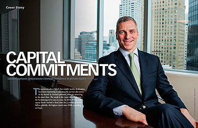 Terry Mullen photographed for Mergers and Acquisitions